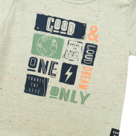 Dirkje Shirt 'Panda' Light Sage'