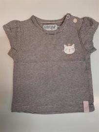 Dirkje Shirt Korte Mouw Light Pink+Stripe