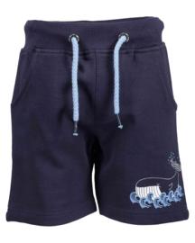 Blue Seven Sweatshort 'Whale Dive' Nachtblauw