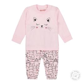 Dirkje Bio Cotton Pyjama Light Pink Kitten