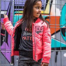 DJ Dutchjeans Jas (Winter) Neon Pink Maat 140 (valt klein!!)