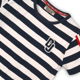DJ Shirt  Navy/White Stripe