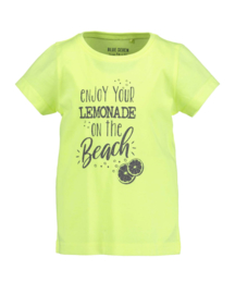 Blue Seven Shirt 'Lemonade Beach' Neon Lemon