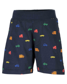 Blue Seven Short 'Fast Car' Donkerblauw