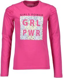 Blue Seven Shirt 'Girl Power' Roze