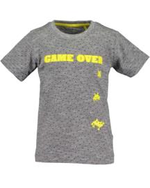 Blue Seven Shirt 'Game Over'  Donkergrijs