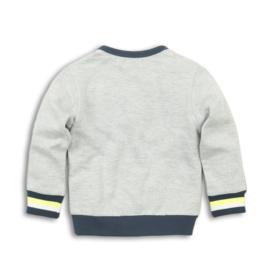 Dirkje Sweater Grey Melee/Navy/Neon Yellow