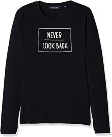 Blue Seven Shirt 'Never look back' Zwart
