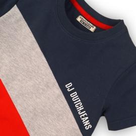 DJ Dutchjeans Shirt Red/Navy/Grey