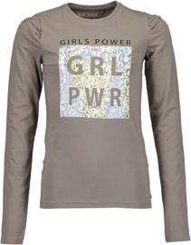 Blue Seven Shirt 'Girl Power' Grijs
