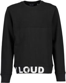Blue Seven Sweater 'Stay Loud' Zwart