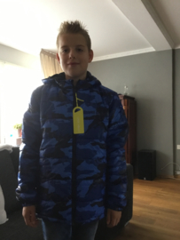 Lemon  Beret Winterjas 'Camouflage' Blauw
