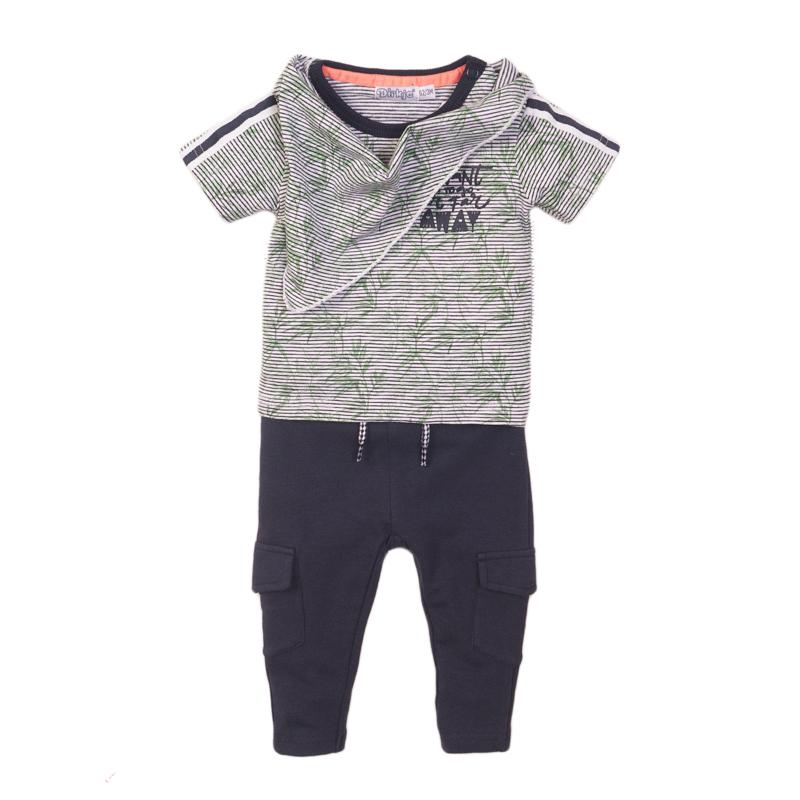 Dirkje Set 'Panda far away' Broek+Shirt+Sjaaltje Navy