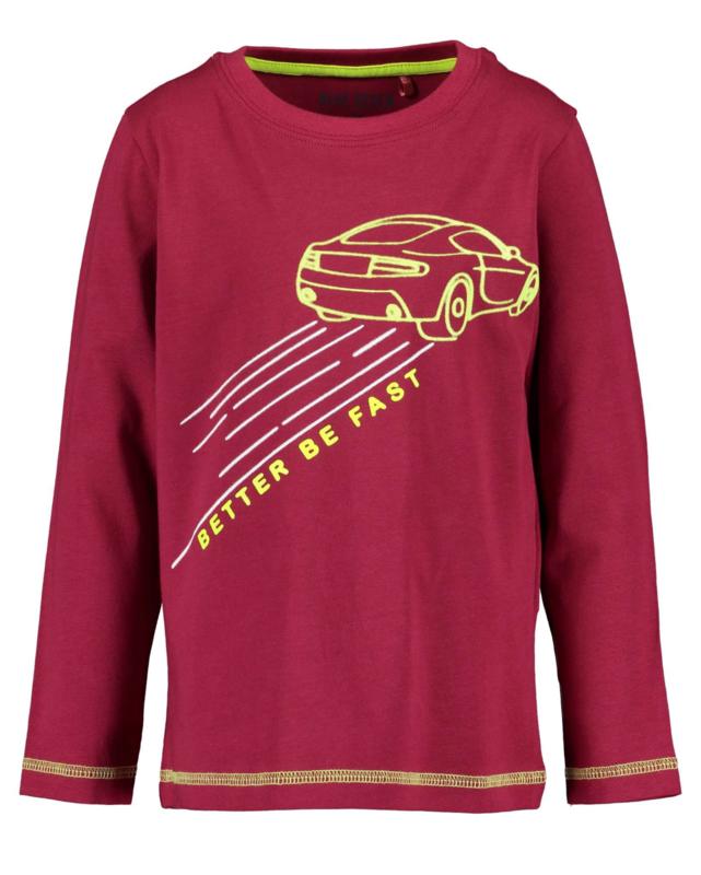 Blue Seven Shirt 'Neon Racer' Bordeaux