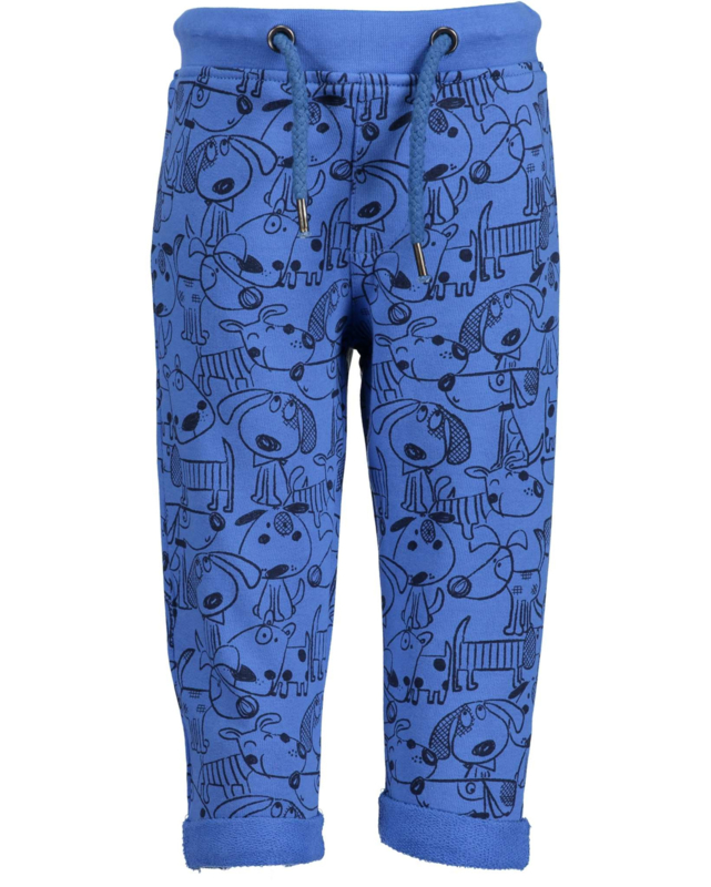 Blue Seven Sweatbroekje 'Happy Dogs' Blauw