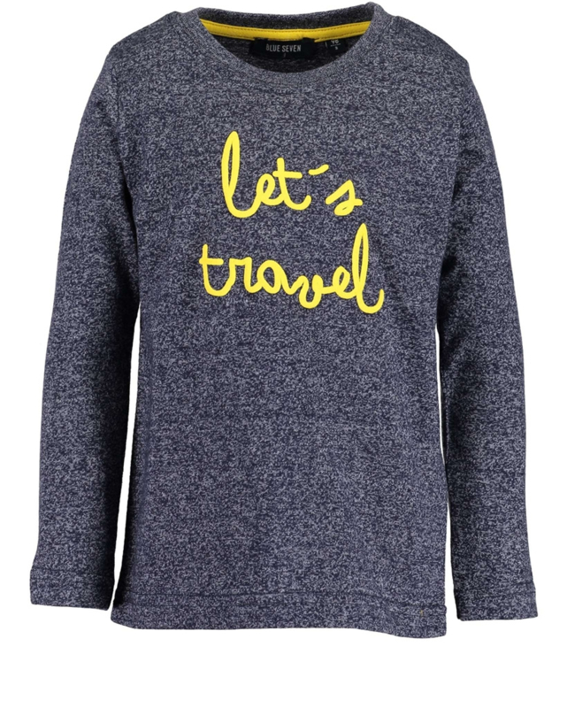 Blue Seven Longsleeve 'Let's Travel'