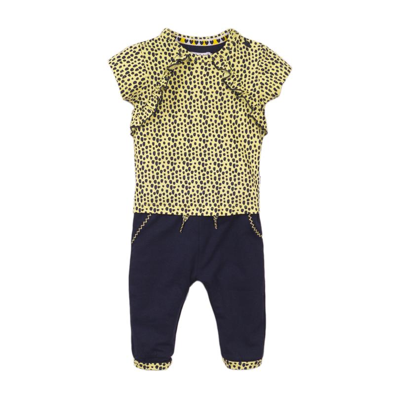 Dirkje Set Shirt+Broek Navy/Yellow