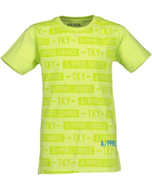 Blue Seven Shirt 'Neon Lights'  Lime