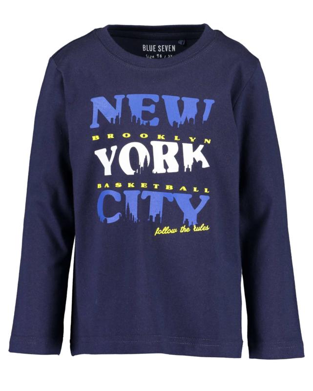 Blue Seven Longsleeve 'Big City Sports' Donkerblauw