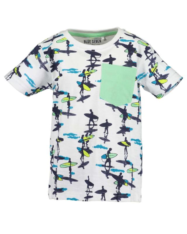 Blue Seven Shirt 'Beach Court' Wit