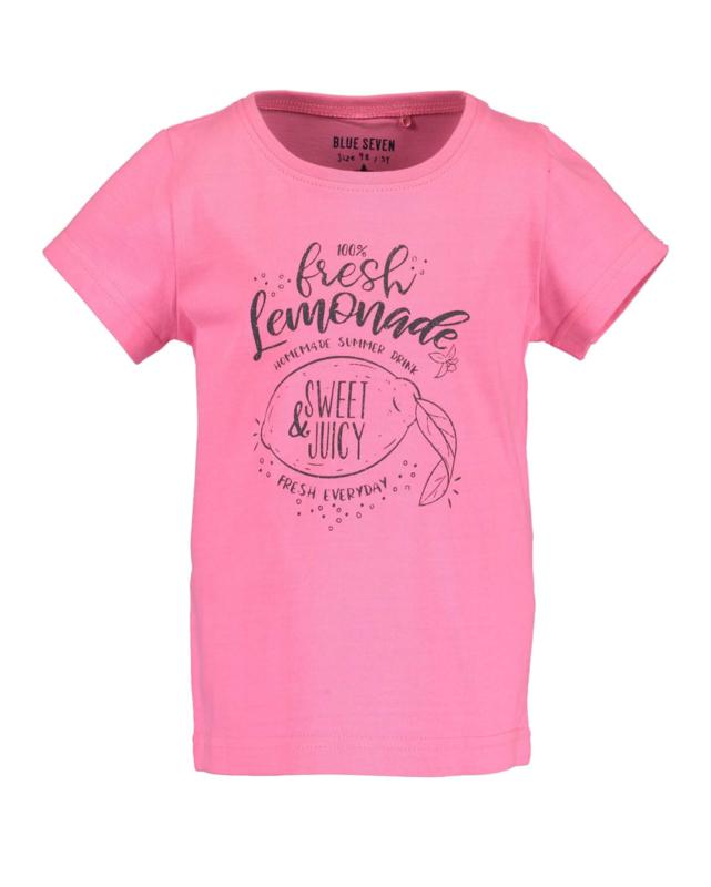 Blue Seven Shirt 'Lemonade Beach' Neon Pink