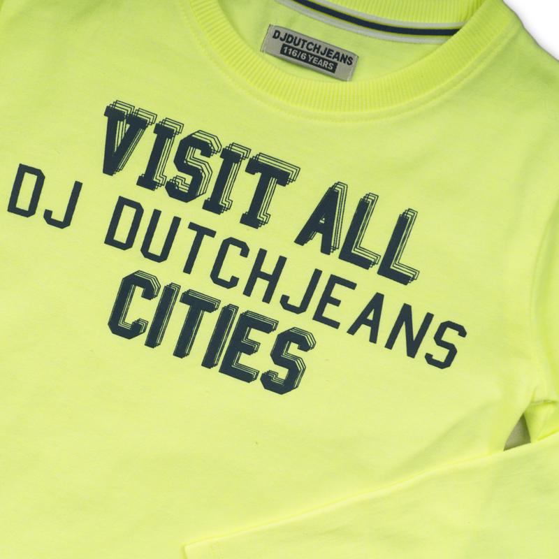 DJ Dutchjeans Longsleeve Neon Geel