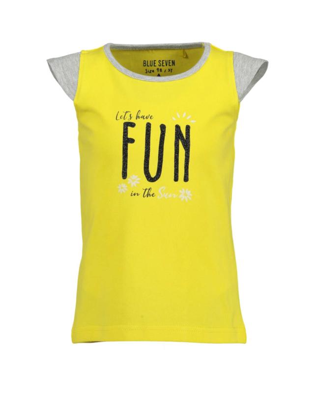 Blue Seven Shirt 'Fun Panda' Geel