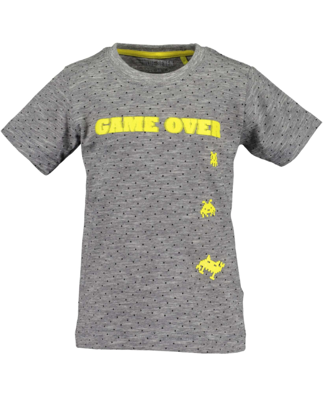 Blue Seven Shirt 'Game Over'  Donkergrijs