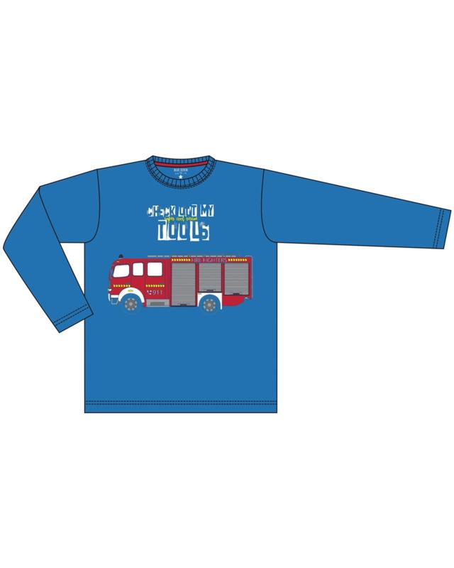 Blue Seven Longsleeve 'Vehicles' Helderblauw
