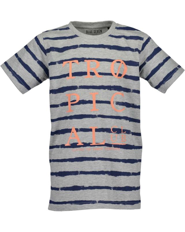 Blue Seven Shirt  'Tropical' Grijs