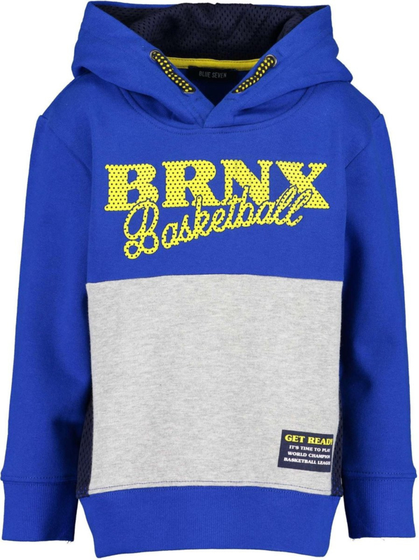 Blue Seven Sweatshirt met capuchon 'Big City Spors' Royal Blauw