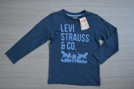 Levi's longsleeve blue maat 6