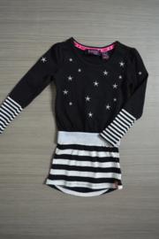 B.Nosy jurk zwart/wit ster maat 86/92
