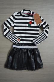 B.Nosy jurk zwart/wit streep maat 86/92