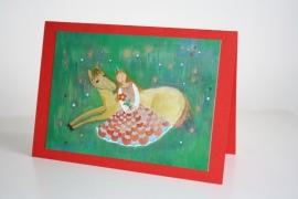 Kinderkaart nr:8 Prinses met Watse het paardje
