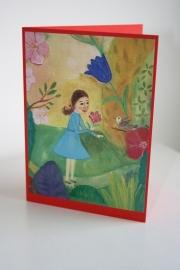 Kinderkaart nr:6 Clara en de vogel