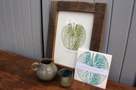 Poster Botanical met blad groen A4