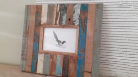 Otentic Design fotolijst nr: 11 sloophout  wandmodel