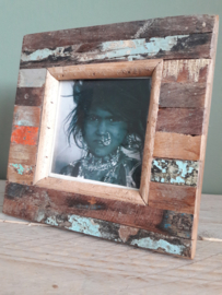 Otentic Design fotolijst nr: 10 sloophout  staand model vierkant