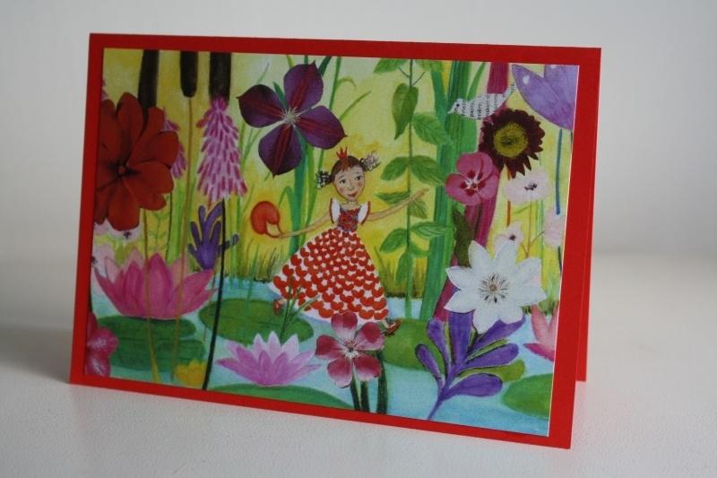 Kinderkaart nr:3 Prinses Pompebledsje in de Paleistuin
