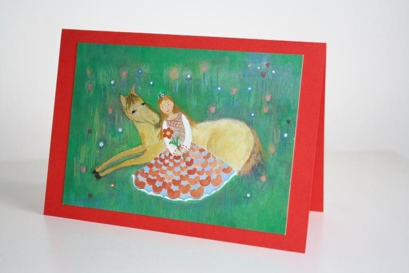 kinderkaart-paard-prinses