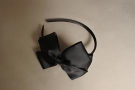 Haarband met strik 'zwart'