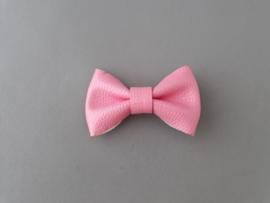 Leren strik roze