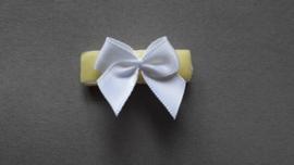 Baby klittenband haarspeldje 'geel'