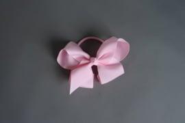 Elastiek met strik 'roze'