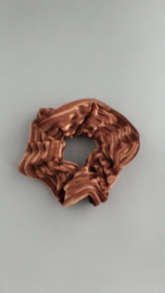 Scrunchie rib fluweel 'bruin'