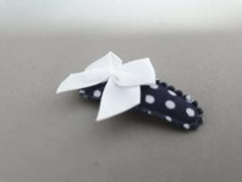 Baby haarknipjes blauw met wit strikje