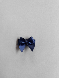 Baby klittenband haarspeldje met strikje 'navy'