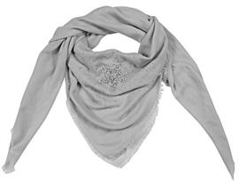 Vierkante sjaal 'star' (grijs)