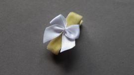 Anti slip baby haarspeldje 'geel/wit'